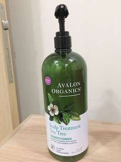 Used Avalon Organics scalp conditioner