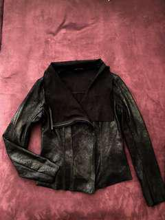 Bardot metallic black jacket