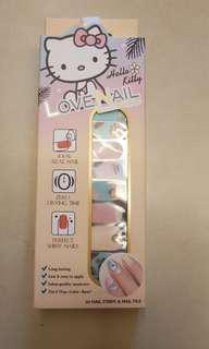 Hello kitty nail stickers
