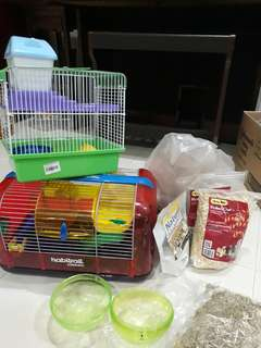 Hamster Cages, Food & Accessories