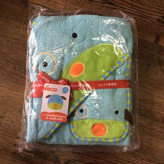 BNWT Skip Hop Zoo Baby Hooded Bath Towel Set
