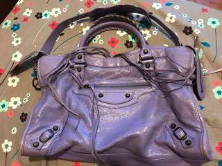 Balenciaga city Bag lavender purple color