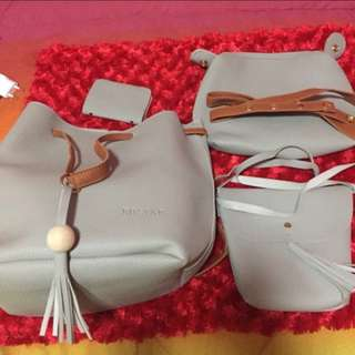 •brandnew• 4 in 1 Gray/Cream Handbag