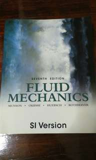 Fluid Mechanics 7th edition by Munson Okiishi Huebsch Rothmayer