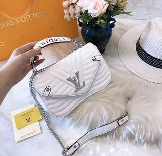 LV style mini leather bag