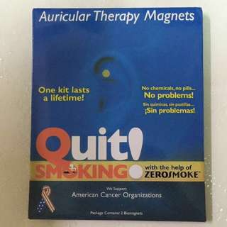 Quit smoking ! auricular therapy magnets