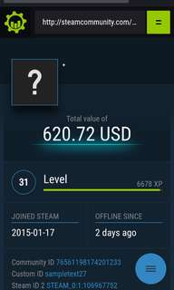 Steam accounts ridiculously priced to clear. QYOP also can. Both good rep!!!