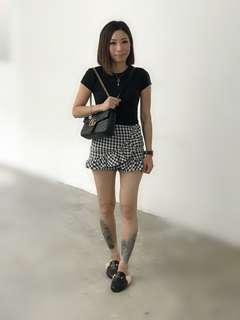 Checkers Ruffles Skirt