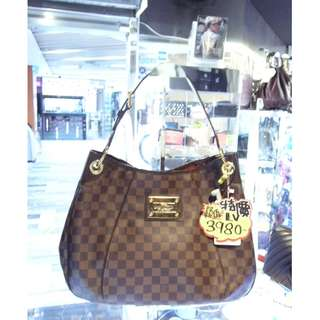 LV Louis Vuitton Brown Damier One Shoulder Handbag Hand Bag 路易威登 啡色 棋盤花 格仔 肩袋 手挽袋 手袋 袋
