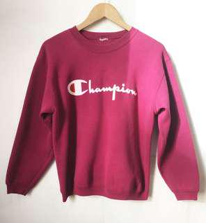 Vintage Champion sweatshirt in wine