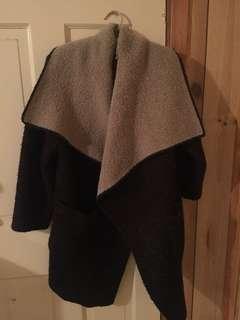 zara knit wool cardigan light jacket