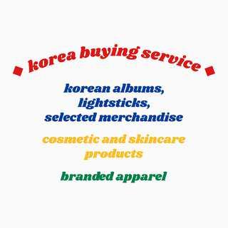 korea buying/purchasing service