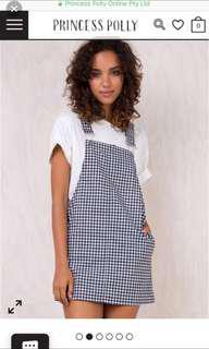 Princess Polly checker overalls