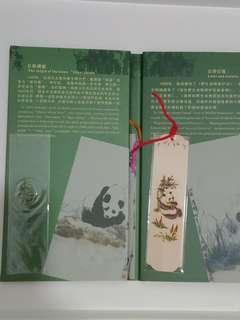 熊貓香木書簽套裝