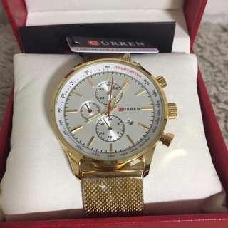 Gold curren watch for men