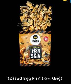 Irvins salted egg fish skin potato chip 咸蛋魚皮 薯片
