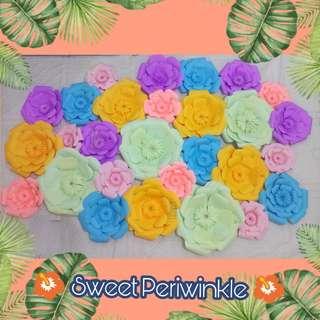 Styro Name + 28pcs Paper Flowers