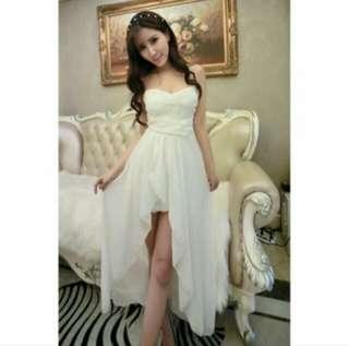 平口雪紡洋裝