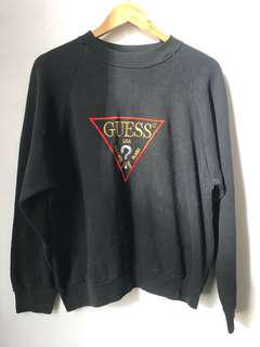 Vintage Embroidery GUESS sweatshirt in black