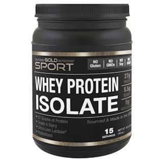 California Gold Nutrition, Whey Protein Isolate, Instantized, Ultra-Low Lactose, Unflavored, 16 oz (454 g)