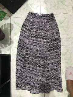 "Repriced!! ""Forever 21"" long/ maxi chiffon skirt"