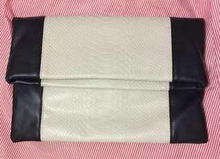 Snake Pattern Clutch Bag