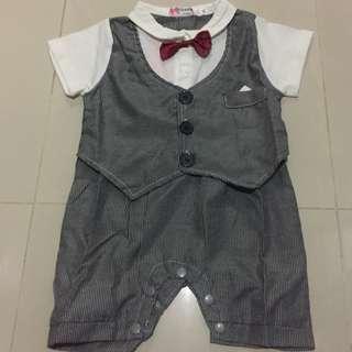 Baby Tuxedo Romper