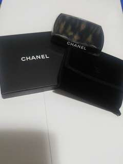 Chanel double sided mirror with pouch