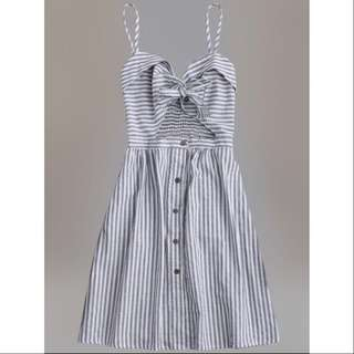 Striped Front Knot Cami Dress