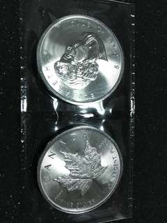 2014 Canda 1 oz Silver Maple Leaf BU