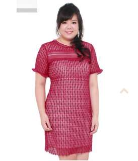 Uk 14 big size Red Laces Dress! Brand New!!