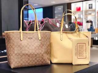 REAL and New Coach Bag Reversible 子母袋