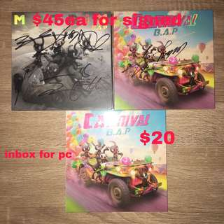 B.A.P. Carnival + Signed albums