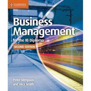 Business Management IB Diploma Textbook