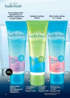 AVON Feelin Fresh Quelch Anti-Perspirant Deodorant Creams (60g)