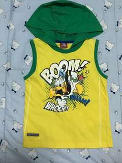 Donald Duck Sleeveless Shirt with Hoodie