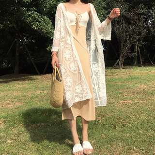 [PRE-ORDER] Women Lace Cardigan Loose Long Sleeves Female Coat Sun Protection Jacket