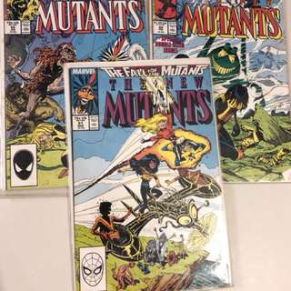 The New Mutants 59-61 vintage comic books