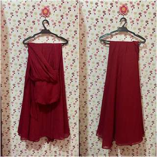 Ruby Red Infinity Dress
