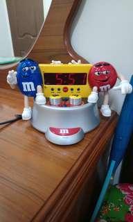 M&M's公仔時鐘鬧鐘收音機
