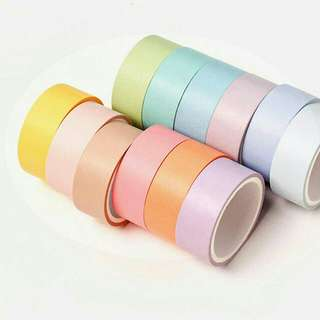 Macaron color washi tape 12colors in 1 box