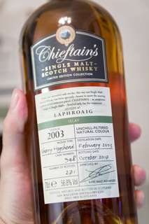 Laphroaig 2003/2017 14 Years Old by Chieftains 1 of 271 bottles