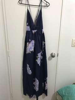 Navy/floral maxi
