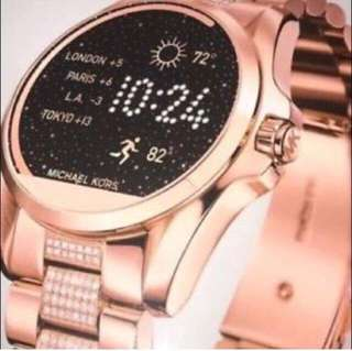 Brand New Michael Kors Studded Rosegold Touchscreen Smartwatch