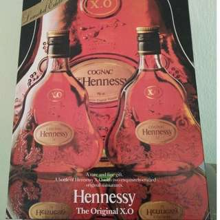 Hennessy Cognac XO Limited Edition with two exquisitely crafted original miniatures