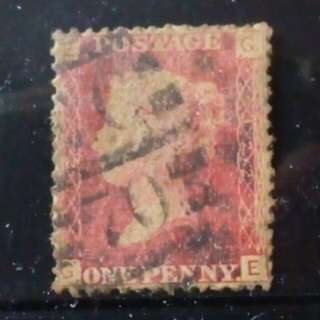 [lapyip1230] 大英帝國 1858年 維多利亞 紅便士 舊票 VFU