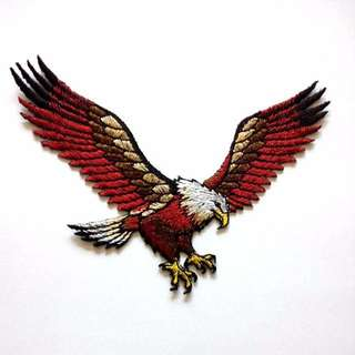 Eagle Flying Wings Iron On Patch