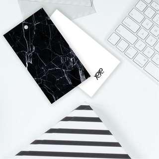 Black Marble Art Tile Pattern Gift Tag for Present Wrapping
