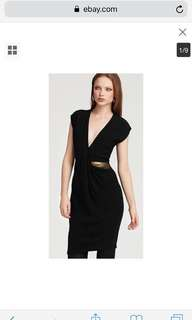 Diane von furstenberg dress black small 0 2