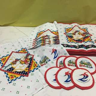Table Placemats, Handkerchiefs, Coasters (Sports For Life)